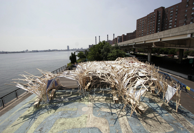 Solar Pavilion 3, Stuyvesant Cove Park, NYC, 2008<br>Photograph by Keith Sirchio