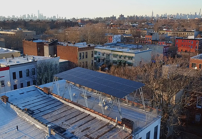 10kW Canopy in Bedford-Stuyvesant, Brooklyn<br>Aerial photography by Marvel Vision