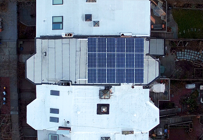 5kW Canopy in Park Slope, Brooklyn<br>Aerial photography by Marvel Vision