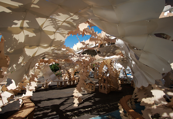 Solar Pavilion 2, Stuyvesant Cove Park, NYC, 2007<br>Photograph by Keith Sirchio