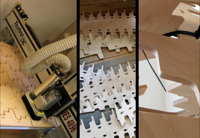 CNC Milling, Lattice pieces, Tie-strap at assembly join